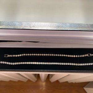 Diamond tennis bracelet and necklace